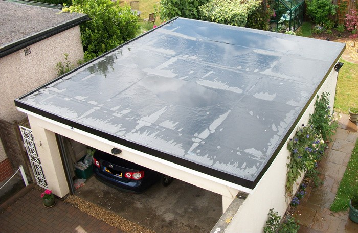 new flat garage rubber roof in falkirk