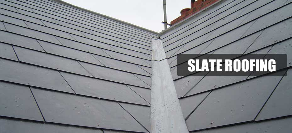 new slate roof installation